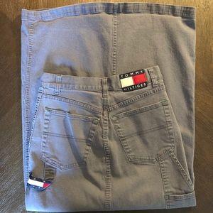 Vintage 90's Tommy Hilfiger Long Grey Skirt